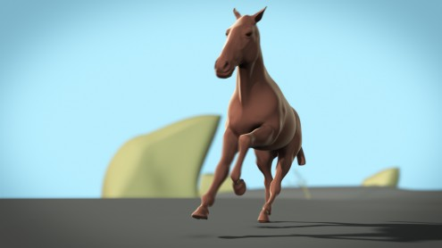 Horse gaits 3d animation